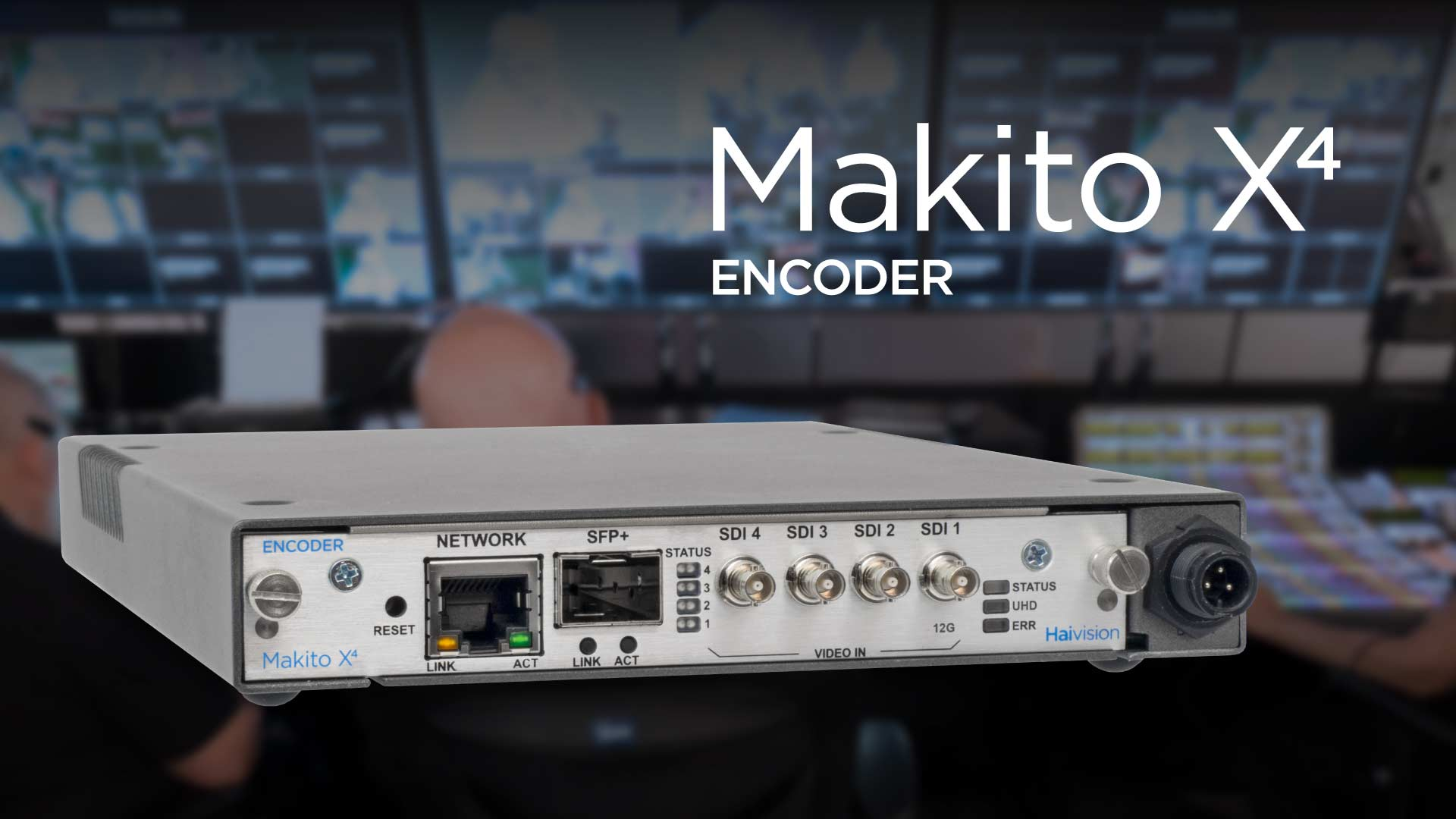High-Quality and Low-Latency Transmission of 4K Video Contents through Public Network! ~Starts to Sell Makito X4, Ultra-Low Latency Video Encoder by Haivision~