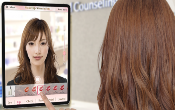 MotionPortrait's AR Makeup Simulator Provided by Rikei  Adopted for Use at FANCL GINZA SQUARE